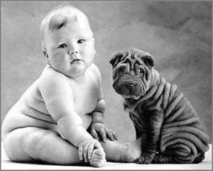 Fat babies are super cute. But it might not be super healthy.